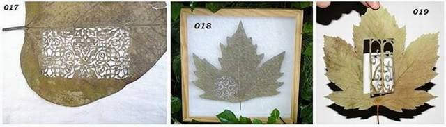 Art on dry leaves - amazing