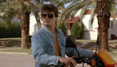 charlie sheen is winning in the movie the wraith as jake kesey