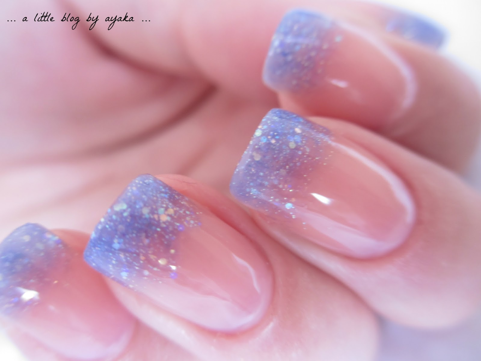 A little blog by ayaka blue glitter ombre for What is ombre design