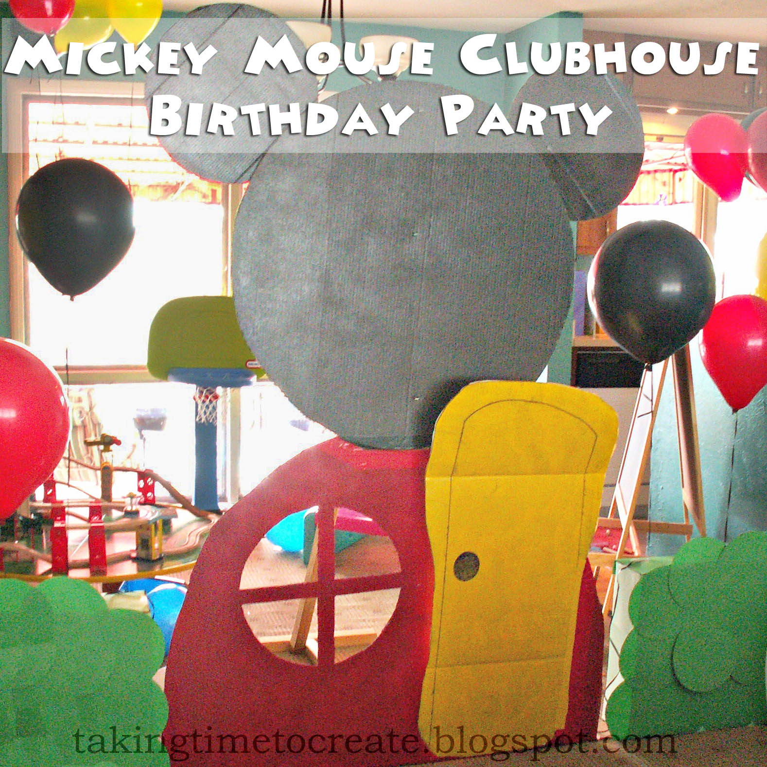 mickey mouse clubhouse diy birthday party invitations tutorial - HD 1578×1578