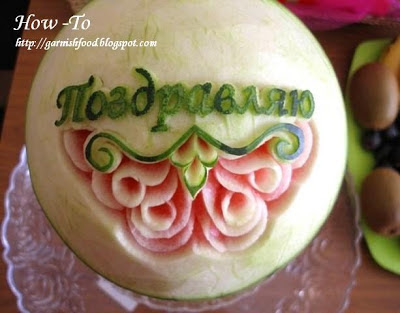 watermelon carving step by step