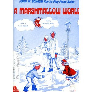 A Marshmallow World Sheet Music