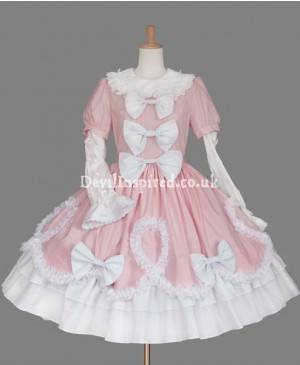 Pink and White Sweet Love Lolita Dress