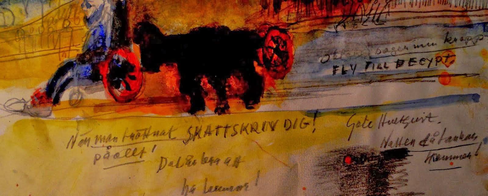 Utställning Nr 3 - Akvarell - Göte Hultqvist