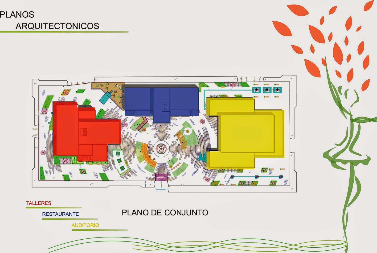 Centro cultural xaman ha proyecto arquitect nico for Representacion de planos arquitectonicos