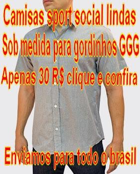 CAMISAS SPORT SOCIAL FINO