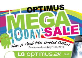 LG Optimus Mega Sale!