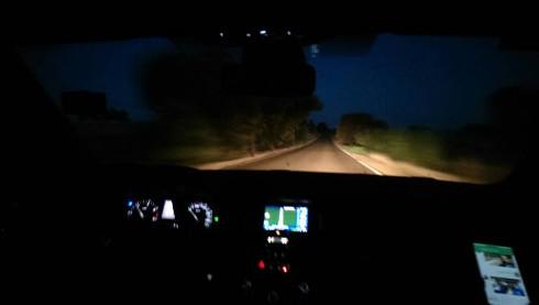 De regreso a Sevilla de madrugada por las carreteras portuguesas