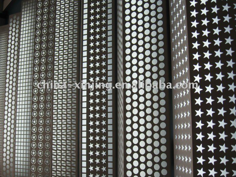 Perforated Aluminum Panels : Decorative perforated metal panels