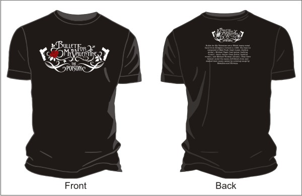 Bullet For My Valentine Logo Vector T Shirts