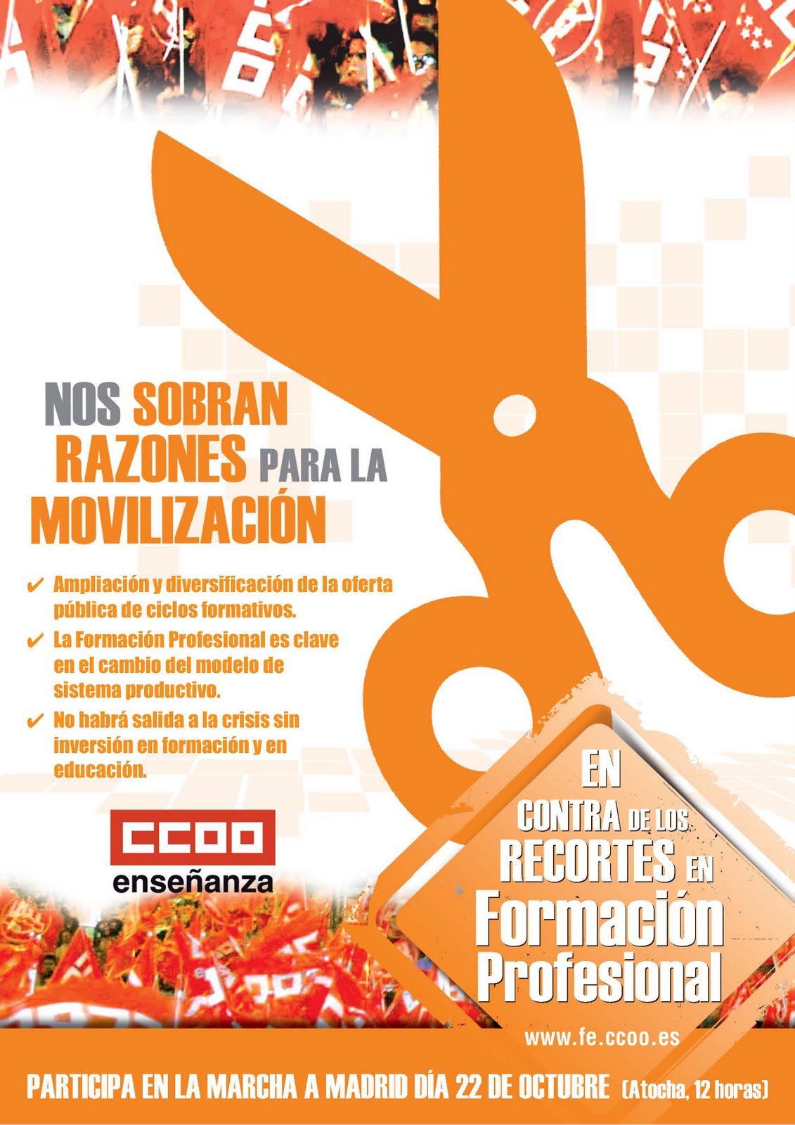 Formaci n profesional cartel fp marcha a madrid 22o for Formacion profesional cocina madrid
