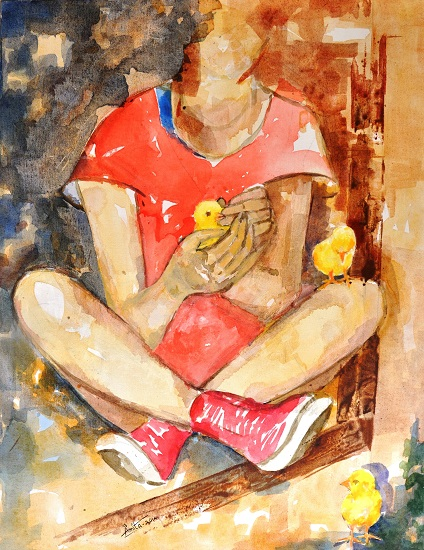 Create, nurture and set free - painting by Amita Goswami ( part of her portfolio on www.indiaart.com)