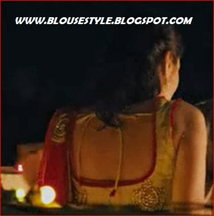 actress Lekha washington in back blouse