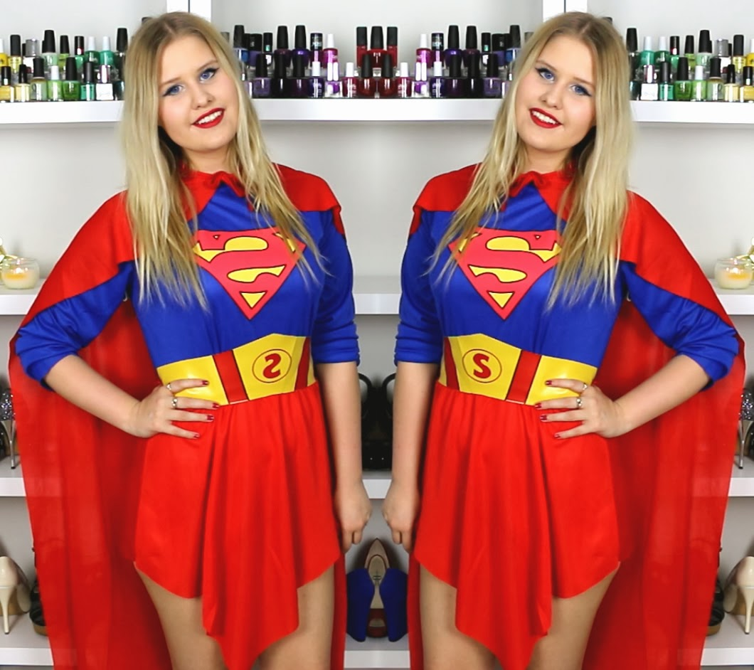 Jordyu0026#39;s Beauty Spot SUPERWOMAN MAKEUP AND OUTFIT U2605 HALLOWEEN TUTORIAL