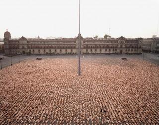 Der nackte Zocalo von Spencer Tunick in Mexiko-Stadt