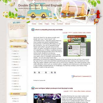 Double Decker around England Blogger Template. free download template blogspot