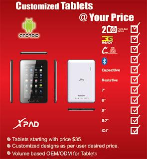 الجهاز اللوحي XPad بسعر 80 دولار وأصبح متوفراً في الامارات