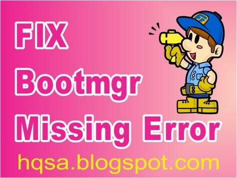 bootmgr missing error
