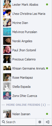 New facebook chat sidebar screenshot