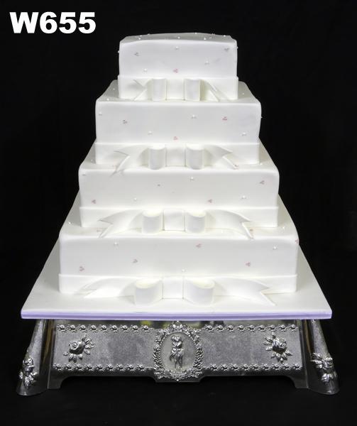 Beautifull Four Tier Square Wedding Cakes