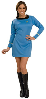 Star Trek Classic Blue Dress Deluxe Adult Costume