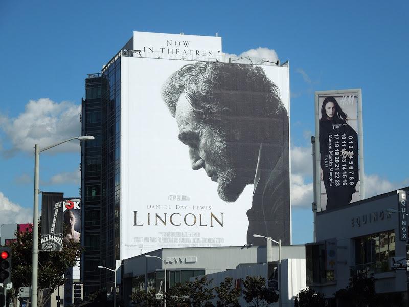 Giant Lincoln movie billboard