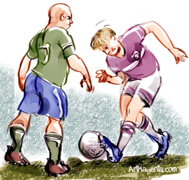 Soccer football defender by ArtMagenta