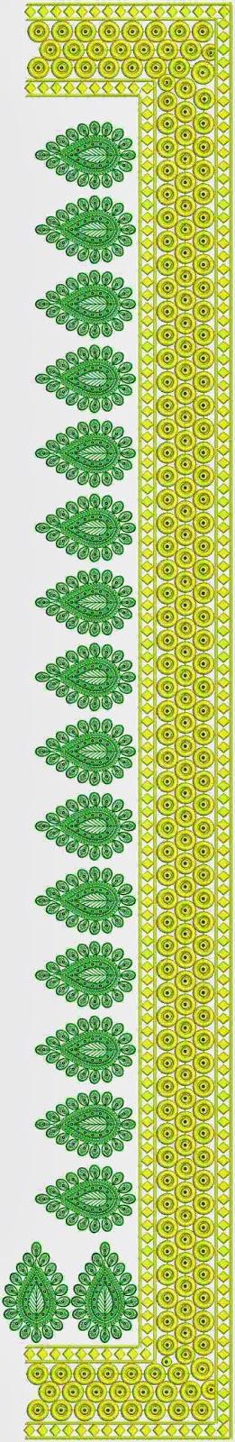 elegante naaldwerk borduurwerk C Pallu Sari