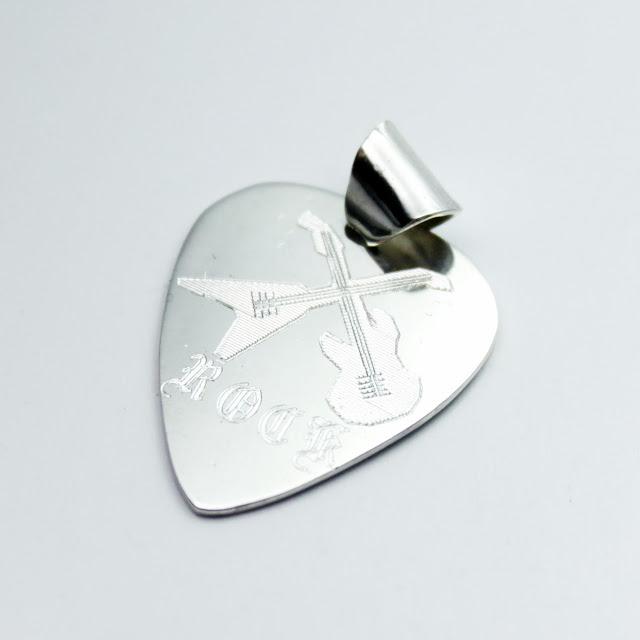 Púas de plata personalizada plata colgante