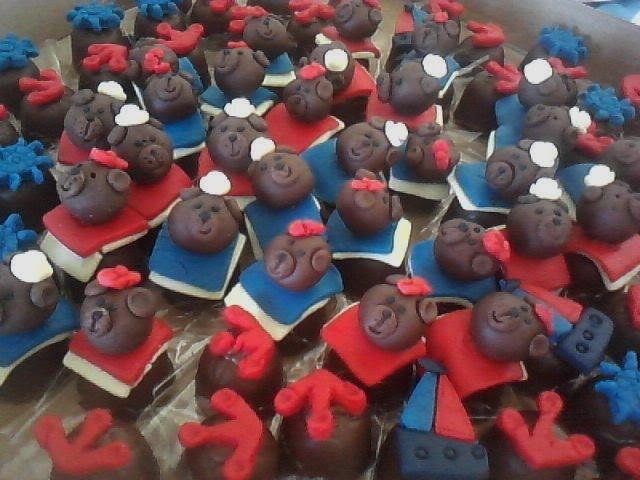 Bombons decorados Urso marinheiro