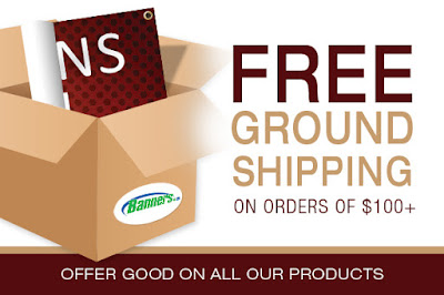Free Ground Shipping on orders of $100+ through 9/18/15