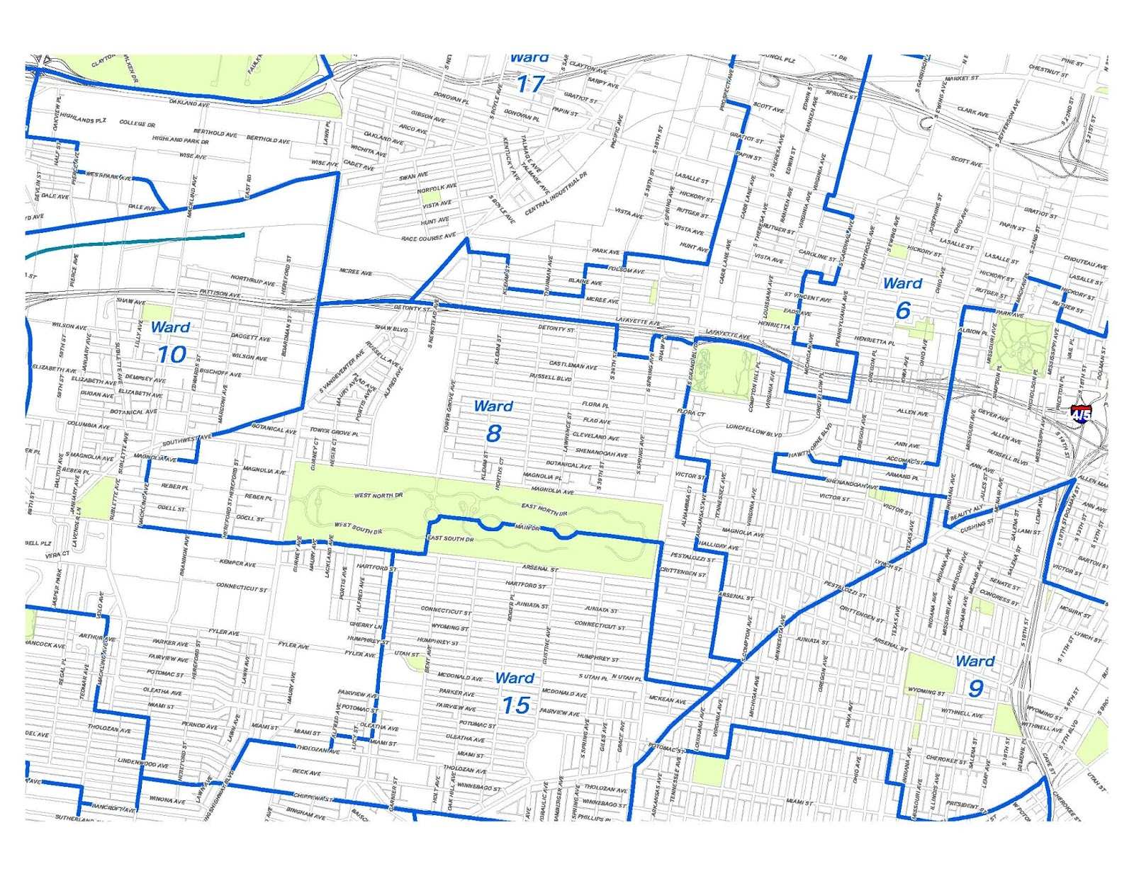 8th Ward Dems StL: Map of the 8th Ward, City of St. Louis (August 2011)