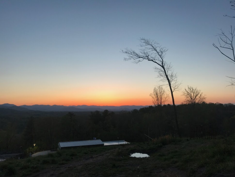 Sunset at Lookout Observatory in Asheville, NC - photo by Ann Lewis