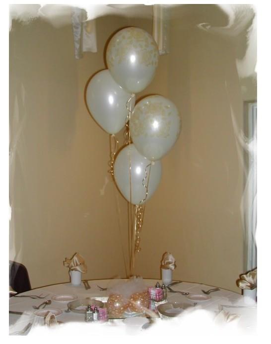 Centro de mesa globos con helio - Adornos globos economicos ...