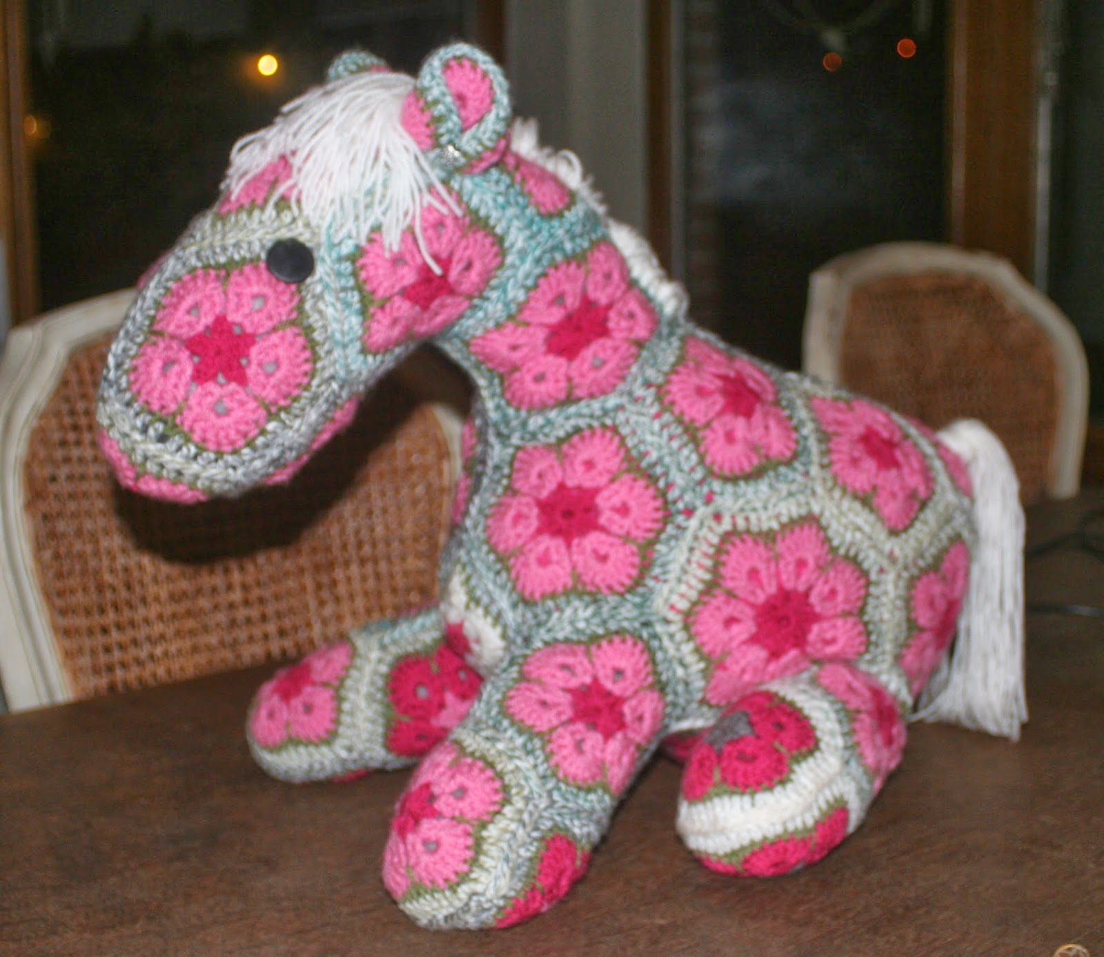 African Flower Pony Crochet Pattern : The Flemish Bee: Cuddle animals crocheted with