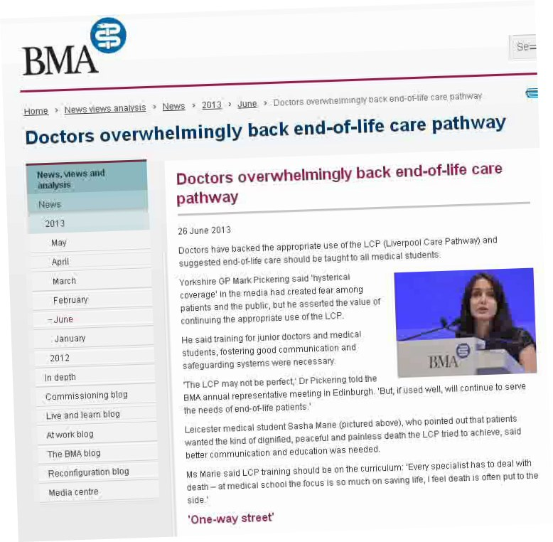 liverpool care pathway essay What is the liverpool care pathway what the papers say read article of the 450,000 people who die in britain each year under nhs care around 29 per cent – 130,000 are patients who.
