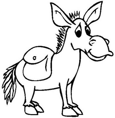 Donkey coloring child coloring for Donkey coloring page