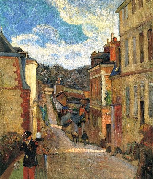 Paul Gauguin -Rue Jouvenet à Rouen,1884.