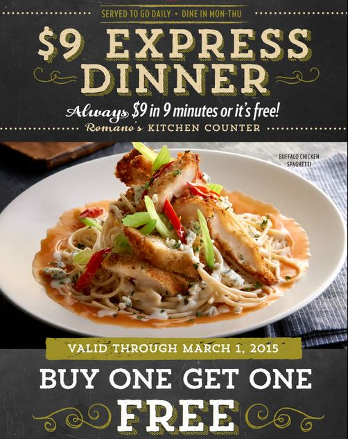 romano s macaroni grill express coupon buy 1 get 1 free