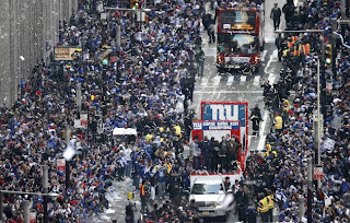 NY Giants Get Parade...