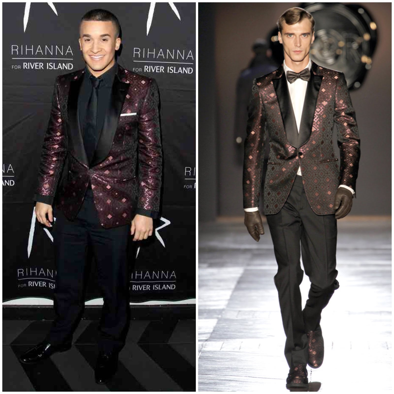 00O00 Menswear Blog Jahmene Douglas in Viktor & Rolf - Rihanna for River Island after party