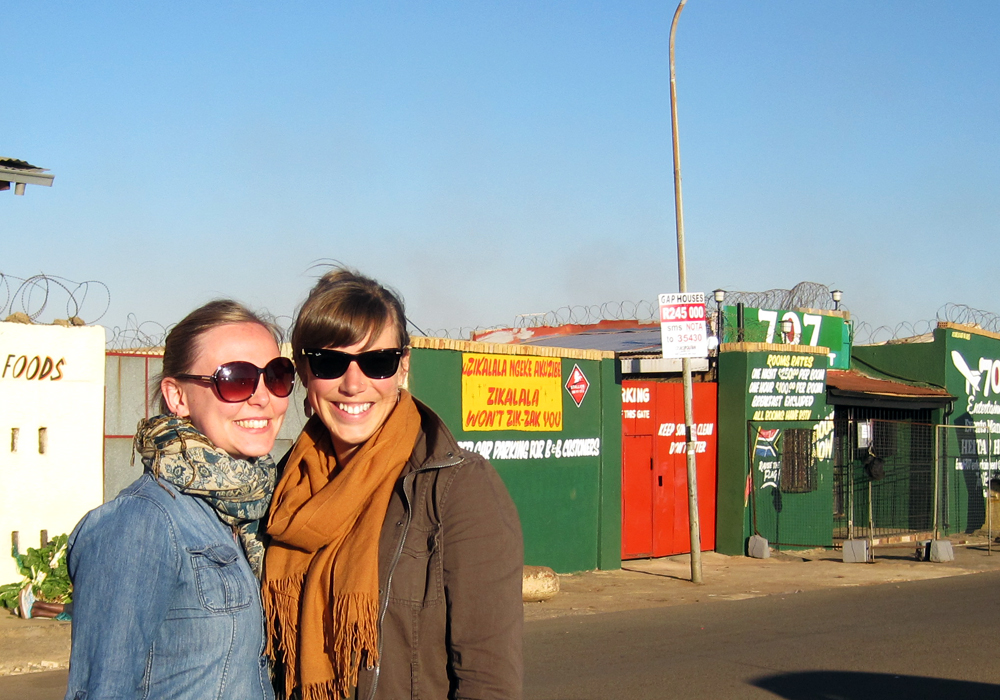 Chelsea Watson and Charlotte Senini in Soweto