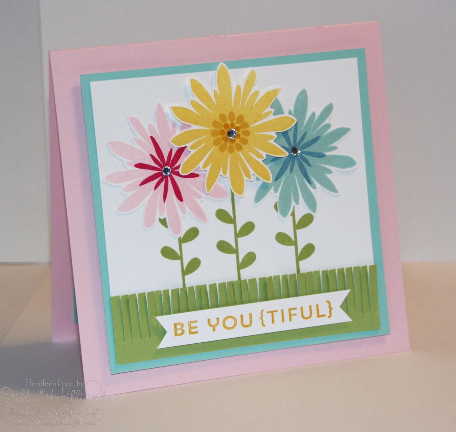 Jill s Card Creations Flower Patch fun
