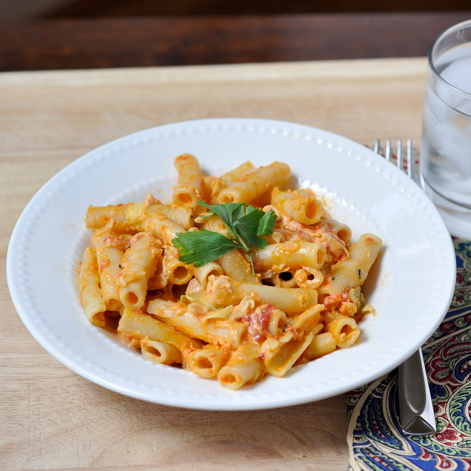 Good Thymes and Good Food: Goat Cheese Pasta with Roasted ...