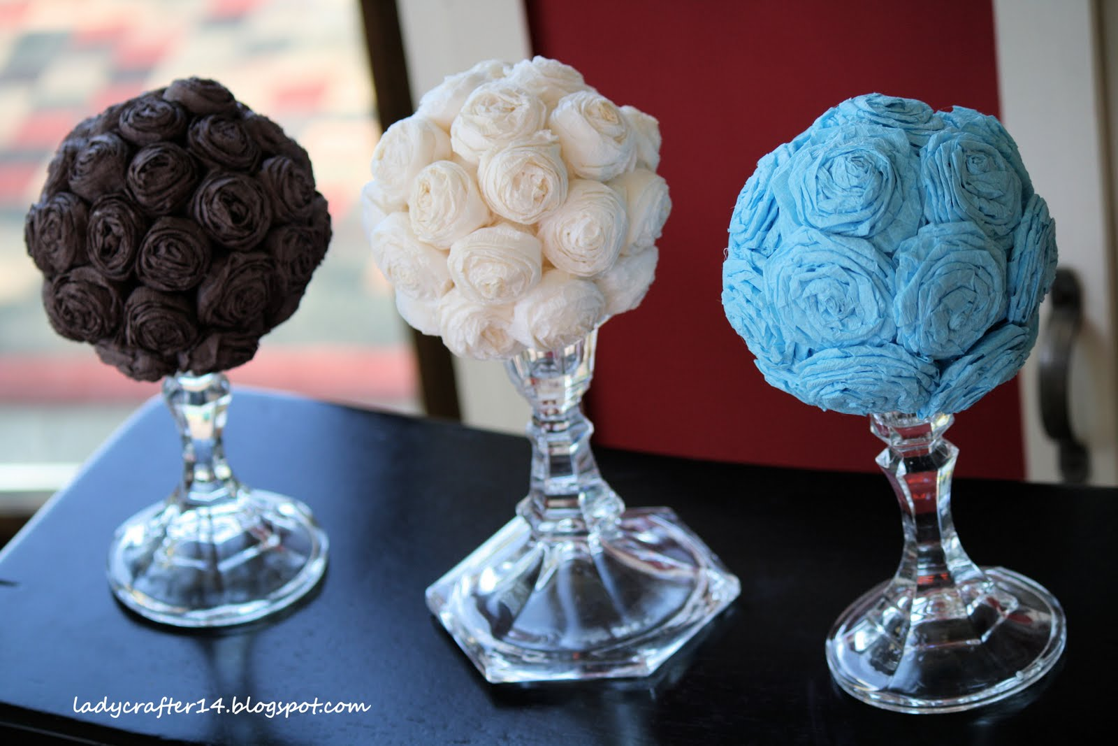 Ladybugs crafts and 14 diy decor with flower balls and visit the link below to get the full tutorial on these beauties all you need is crepe paper hot glue styrofoam balls and lots of patience mightylinksfo