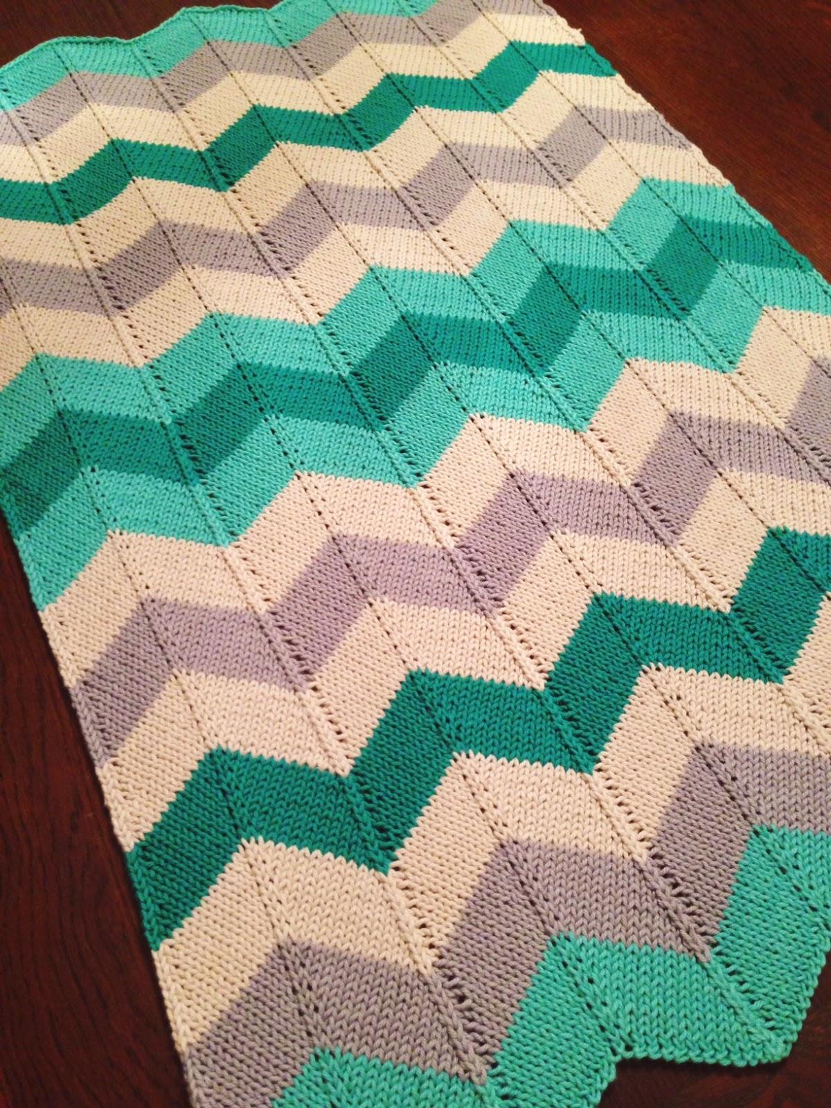 Chevron Baby Blanket - iKNITS