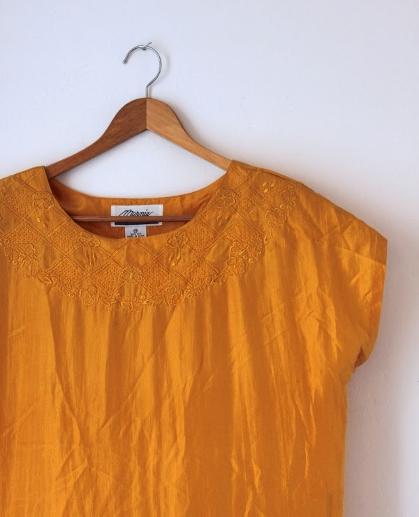 Vintage Silk Blouse #vintage #clothing #fashion #citrine #topaz