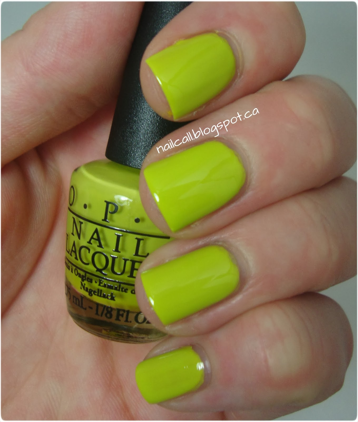 OPI Stand in Lime For Days Swatch