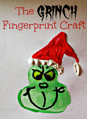 fingerprint grinch craft for kids at christmas