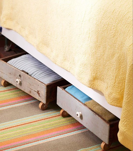 Use The Old Dresser Drawers As Under Bed Storage